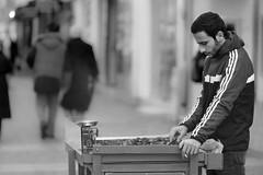 Chestnut (Vyc_Majoris) Tags: street chestnut sokak canon 85mm 18 f18 bokeh blur man people person insan monochrome black white bw blackandwhite
