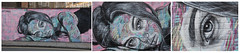 Triptych (Mabacam) Tags: 2017 london eastend shoreditch streetart wallart urbanart publicart spraycanart aerosolart painting paint mural freehand graffiti urbanwall wall portrait woman trypich antcarver
