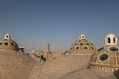 Sultan Amir Ahmad Bathhouse' rooftop (pleymalex) Tags: iran house old abbasi tabatabei kashan desert sun