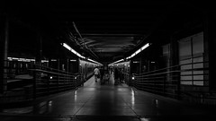 Metro NYC (Eduardo Trevisan Ribeiro) Tags: ny new york nova iorque metro subway station estacao bw blackandwhite preto e branco people dark routin routine rotina passenger passageiros trem train usa us bnw