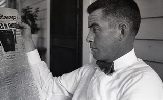 Chuck reads all about that ambush shooting (1952)