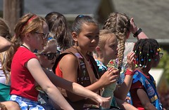 Girl Scouts On Parade Float (swong95765) Tags: kids girls scouts parade ride cute float wave waving riding