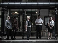 cta Bus Stop (Jovan Jimenez) Tags: cta bus stop pubic transit transportation people sony ilce 6500 a6500 alpha nikon series e seriese pancake lens manual foucs vintage street photography cinematic everyday life f18