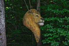 Eins und Alles, Löwe (reipa59) Tags: kunst wald holz skulptur welzheim badenwürttemberg einsundalles