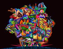 La cité Kodabmé (Alexandre Poulin-Giroux) Tags: cité ville city secteur sector abstract abstrait amenagement repartition coloré coloful visage face details big complex mega world card carte