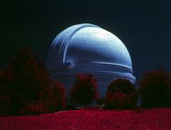 Palomar Observatory (Blurmageddon) Tags: mediumformat film analogphotography colorinfrared infrared kodak eir aerochrome epsonv700 orangefilter circularpolarizer cpl bronicaetrsi aristae6 selfdeveloped inexplore