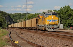 Solo Newbie (Matt_Schimmel) Tags: unionpacific up emd new fresh ace tier4 sd70acet4 sd70ah jeffcitysub pacific missouri coal freight train evening