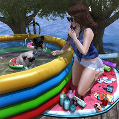 {Blog 240} Puppy Pool Party (veronica gearz) Tags: avi avatar blogger blog blogging blogs bloggers maitreya mesh 2ndlife life lelutka secondlife second sl summer stealthic hairfair hairfair2017 cestlavie summerfest atomic kibitz izzies chknowposes jian fameshed merak pilot pool party puppy puppies secondspaces tresblah sways studioskye