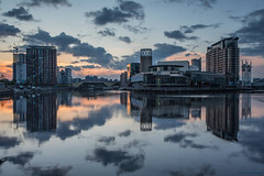 Sunrise over the Quays (Explore 10/07/17 #16) (andyrousephotography) Tags: salfordquays lowry theatre mediacityuk docks basin northbay newrestaurant alchemist bar cocktails sunrise firstlight andyrouse canon eos 5d mkiii ef1740mmf4l
