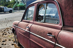 Old metal II (Matthew P Sharp) Tags: renault car decay rust rusty 2470 lglass