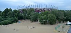 Varsovie – Warsaw - Warszawa (annachj55) Tags: varsovie warsaw warszawa pologne polska poland stade stadion eau fleuve vistule plage beach
