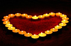 Candles (svklimkin) Tags: candel heart love light emotion red burn flicker fire