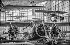 Museum of Flight (NoJuan) Tags: ilfordxp2 xp2 bw blackwhite blackandwhite centurygraphic graflex 6x9 rollfilm mediumformat museumofflight boeing boeing80a1
