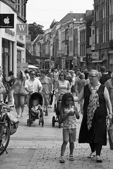 Shopping street (Martijn A) Tags: streetphotography straatfotografie people mensen canon70200mmf4lis canon550deosdslr city stad shertogenbosch wwwgevoeligeplatennl