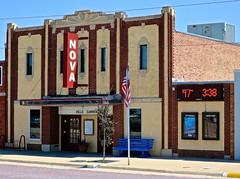 Nova Theatre, Stockton, KS (Robby Virus) Tags: stockton kansas ks nova theatre theater cinema movies marquee sign signage