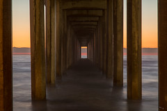 Scripps Pier At Sunset (Chuck - PhotosbyMCH) Tags: photosbymch landscape seascape sunset ocean pier scrippspier ellenbrowningscrippsmemorialpier scrippsinstitutionofoceanography ucsd sandiego california canon 5dmkiii 2016 pacificocean outdoors