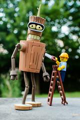 Bender's nightmare (Yoann!) Tags: bender futurama nightmare lego legography afol minifigs minifigurine minifigures minifigure minifigurines mfs toys toy figurine