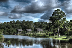 Dickinson Bayou (Madchemist2013) Tags: houston texas bayou dickinson july summer water hdr clouds