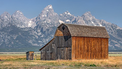 Mormon Row Barn (Jeffrey Sullivan) Tags: teton national sullivan statesroad mormon row barn grand park grandtetonnationalpark landscape nature travel photography wyoming united states trip usa canon photo copyright jeff photomatix hdr