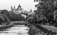 Manzanares (Eugercios) Tags: madrid manzanares rio river bnw bw black white negro blanco spain españa espanha europa europe urbanview cityscape ciudad city cidade