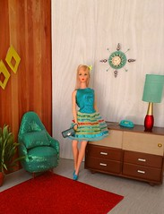 Barbie TNT in Twinkle Togs (Retro Mama69) Tags: barbietnt mattel 1967 twinkletogs vintage doll diorama retro toys redrobbin furniture