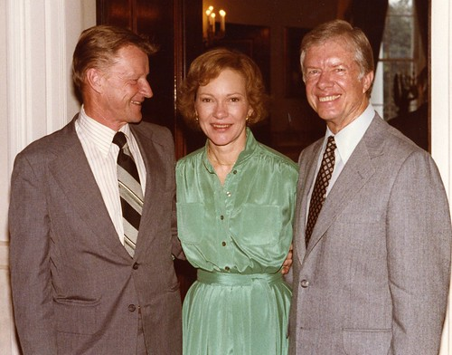 Brzezinski with First Lady Rosalynn Carter and President Jimmy Carter.