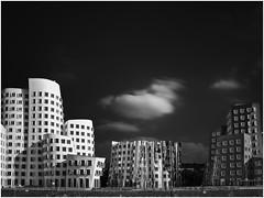 """""""Gehry Houses"""" Düsseldorf (Thunderbird61) Tags: architecture building gehry düsseldorf nrw germany longexposure sw bw zw nb schearzweiss blackwhite zwartwit negroyblanco neroetblanco monochrom monochrome pentax645z pentax pentaxart mediumformat clouds urban"""