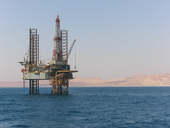 Drilling Rig in the Gulf of Suez (@tomcarpenter) Tags: egypt oilandgas sea drilling gas jackup offshore oil platform production rig sinai suez