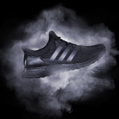 Ultra Boost Triple Black (L S G) Tags: nikon d750 d70 2470 soles ultra boost adidas smoke machine product photography still life lsg laya gerlock black triple v3 shoes