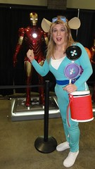 Gadget admiring Tony Stark's inventions (rgaines) Tags: costume cosplay crossplay drag gadget rescuerangers ironman awesomecon awesomecon2017
