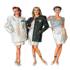 New Look 6567 women suit pattern (FindCraftyPatterns) Tags: newlook6567 womensuitpattern buttonfrontjacket camisoletop wrapskirt pencilskirt plussize6to18 sewingpattern plussizepattern plussizesuit fullfigurefashion