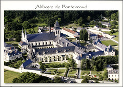 4postcard - Fontevraud Abbey, Loire Valley 2 (Jassy-50) Tags: postcard loirevalley loire france fontevraudabbey fontevraud abbey monastery aerial unescoworldheritagesite unescoworldheritage unesco worldheritagesite worldheritage whs