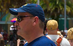 Male profile in crowd (LarryJay99 ) Tags: male guy dude prifilesunglassesfacialhairstubble florida men man guys dudes profile stubble facial hair facialhair caps bokeh people gay urban pulse event 2017 west palm beach handsome nape napes