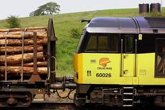 A Lot of Wood at Hellifield (Chris Baines) Tags: colas 60026 hellifield carlisle yard chirk kronospan log train modified kfa wagon