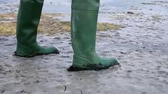 Daiwas at Dusk (essex_mud_explorer) Tags: daiwa coarsefisher green gates uniroyal vintage rubber thigh boots waders watstiefel cuissardes rubberboots rubberwaders rubberlaarzen gummistiefel thighboots thighwaders mud muddy schlamm matsch boue