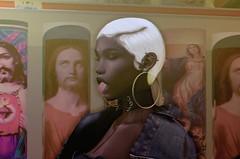Bodega Vibes (Devin Katiye' (tracymonk) | Devin's Blog) Tags: bodega white hair gold earrings candles denim seul choker jesus store black