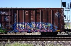 Twit (quiet-silence) Tags: graffiti graff freight fr8 train railroad railcar art twit twito upsk boxcar miniridge cottonbelt ssw ssw28888