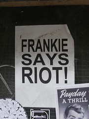 Frankie, Redchurch Street (Loz Flowers) Tags: london bethnalgreen streetart frankiegoestohollywood posters redchurchstreet towerhamlets