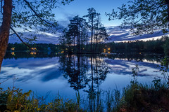 Late in the Evening (Jens Haggren) Tags: lake evening water reflections trees sky clouds longexposure nature landscape nacka sweden