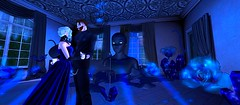Dance of Sapphire (Hollow's End) Tags: second life sl hollows end he rp roleplay role play virtual world social night club hotel urban horror event nocturne alcohol drinking champagne aristocrats noble investigators dark sapphire delight roses
