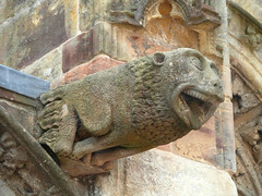 Gargoyle at Rosslyn Chapel (bryanilona) Tags: carving stone gargoyle rosslynchapel scotland tongue teeth ears abigfave