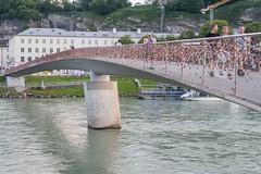Makartsteg - Salzburg's Lock Bridge (gsegelken) Tags: altstadt austria lockbridge makartsteg oldtown salzachriver salzburg vikingrivercruise hansmakart makart makartstegbridge salzach
