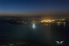 Short final into Cagliari, as seen from the jumpseat (gc232) Tags: shortfinalintocagliari asseenfromthejumpseat live from flight deck cagliari airport runway final approach landing land aviation plane avgeek airplane night iso25600 6d canon6d