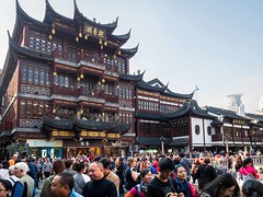 Yu Yuan (Yu Garden), Shanghai, China (Victor Wong (sfe-co2)) Tags: ancient architecture art asia asian building china chinese city cloudless commercial crowds culture day design east exterior famousplace formal garden history house landmark morning old oriental ornamental outdoors pavement pavilion people place residence scene shanghai shop store street structure style tourism tourists town traditional travel visitors yuyuangardens yuyuan
