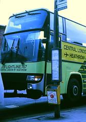 Slide 099-71 (Steve Guess) Tags: addlestone surrey england gb uk wy lcbs london country green line bus coach leyland tiger btl berkhof flightline 767 suspended tow c141spb btl41 daf 3300 recovery truck wrecker