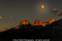 3 sisters sunset (light shift) Tags: 3sisters sisters sunset glowing glow mountain moon night rugged canmore alberta southeralberta banff kevin lightshift