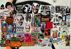 stickers in bangkok (wojofoto) Tags: stickercombo combo bangkok thailand streetart stickers stickerart sticker wojofoto wolfgangjosten wojo bunnybrigade earworm gingergunshot vinylone nol isoe fym bheo alms garde