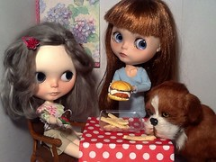 Blythe-a-Day July#6 National Fried Chicken Day (USA)&#7 Chocolate: Abby, Lacey&Barkley