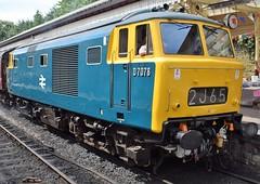 My star of the weekend, the lovely D7076 at Bury, ELR Diesel Gala (colin9007) Tags: railway lancashire east diesel gala bury beyer peacock mekydro hymek maybach class 35 type 3 hydraulic d7076