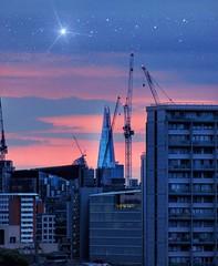 Sunrise Shard (JadeAstraPhotography) Tags: picture photo photography canon stars pinksky sunrise skyline cityscape urban city london theshard